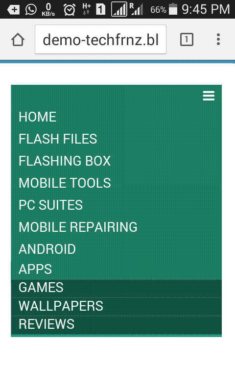 create responsive dropdown menu bar for blogger