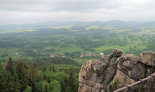 Widok z Sokolika na Trzcińsko.