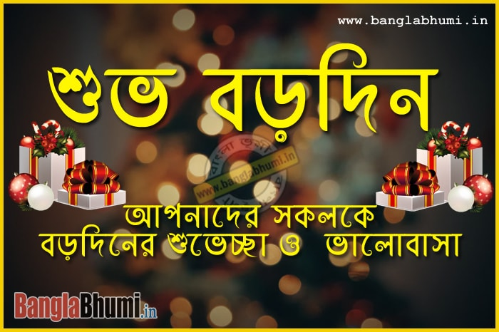 Facebook or WhatsApp Bangla Christmas Photo Free
