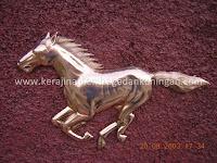 Relief Kuda Tembaga - Kerajinan Tembaga dan Kuningan