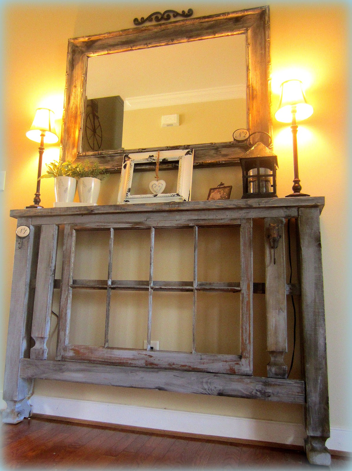 down to earth style new old foyer table. Black Bedroom Furniture Sets. Home Design Ideas