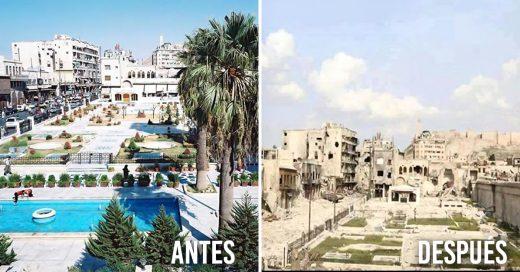 Antes y después de Aleppo en fotos, tras 5 años de guerra