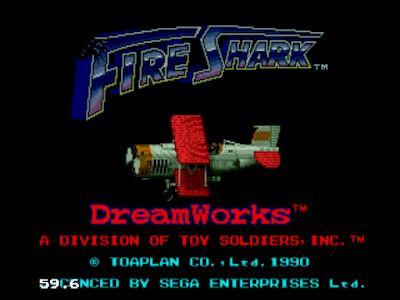 【MD】鮫!鮫!鮫! (Fire Shark)無限炸彈生命Hack版+密技,Toaplan經典飛行射擊遊戲!