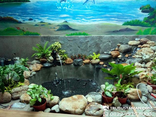 Tukang Taman Jakarta - kolam relief dekorasi air mancur