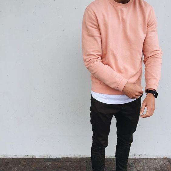 look masculino rosa camisa