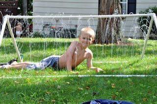 parque de agua DIY para jardin con tubos de PVC