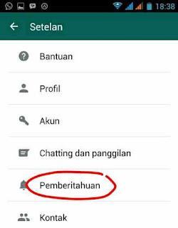 Pengaturan Pemberitahuan Popup whatsapp