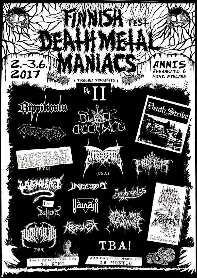 Finnish Death Metal Maniacs Fest 2017