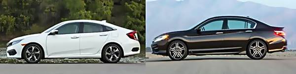 2016 Honda Accord vs 2016 Honda Civic  Whats the Difference