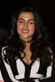 Ananya Soni in a Deep neck white blackl Dress at Shamanthakamani pre release function ~  Exclusive 086.JPG