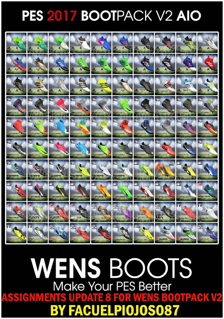PES 2017 Assigments Update 8 untuk Wens Bootpack V2