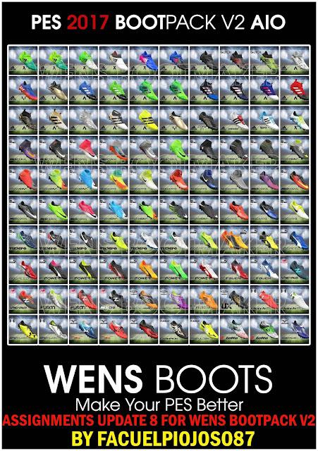 PES 2017 Assigments Update 8 untuk Wens Bootpack V2
