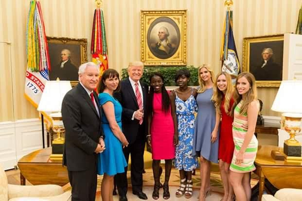 Chibok-girls-with-trump-at-the-white-house
