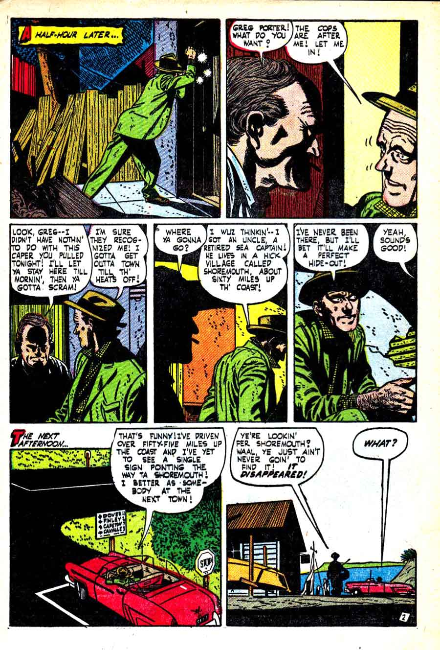 Out of the Shadows #5 Alex Toth 1950s standard horror comic book page art
