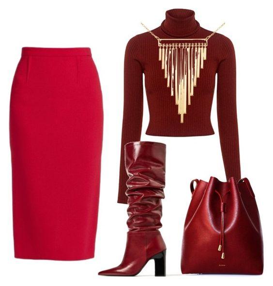 Czerwona spódnica. Z czym nosić.