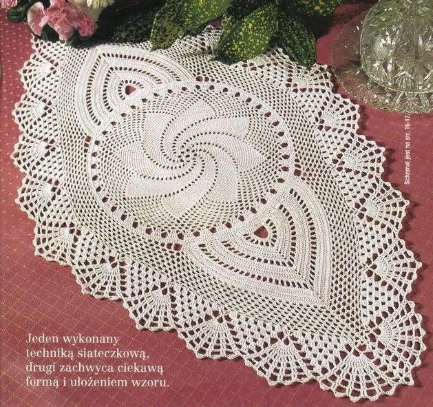 Centro de mesa original diseño crochet