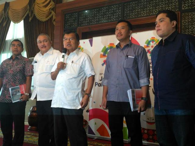 Lebih Cepat Dari Target, JK Apresiasi Kesiapan Sumsel Jadi Tuan Rumah Asian Games