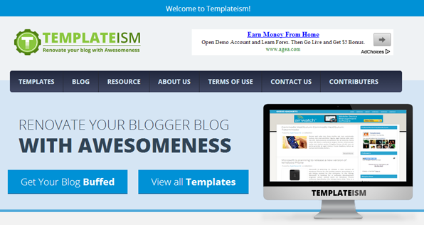 blogger template by templateism