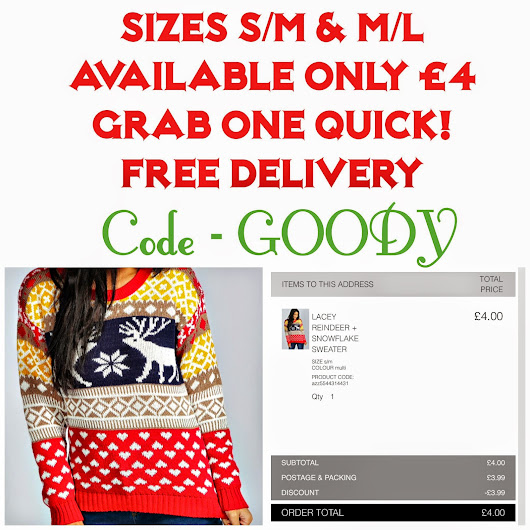 Boohoo Christmas Jumper only £4 Delivered!