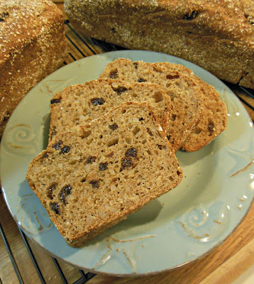 Brown Rice Raisin Bread, a great use for last nights leftover brown rice.