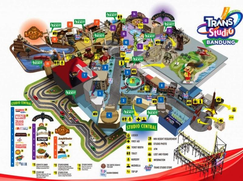 Peta Permainan Trans studio