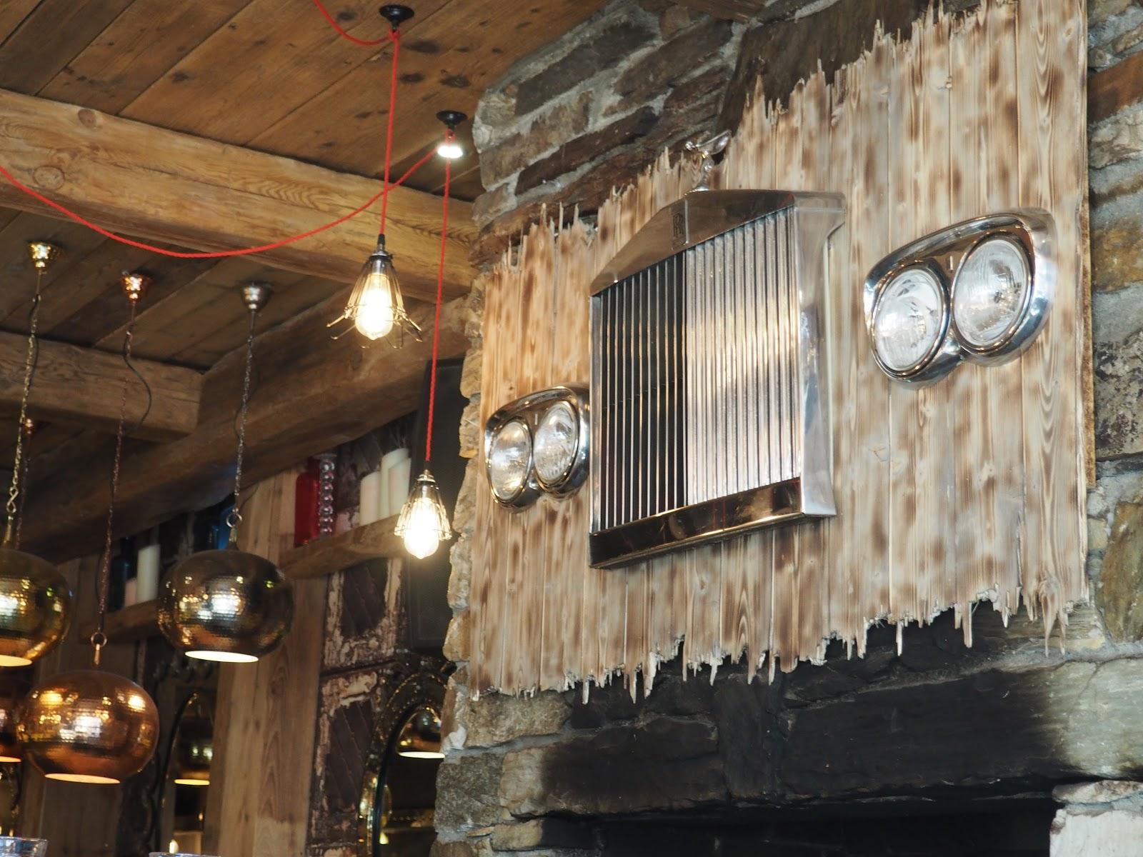 La Baraque interior in Val d'isere, France