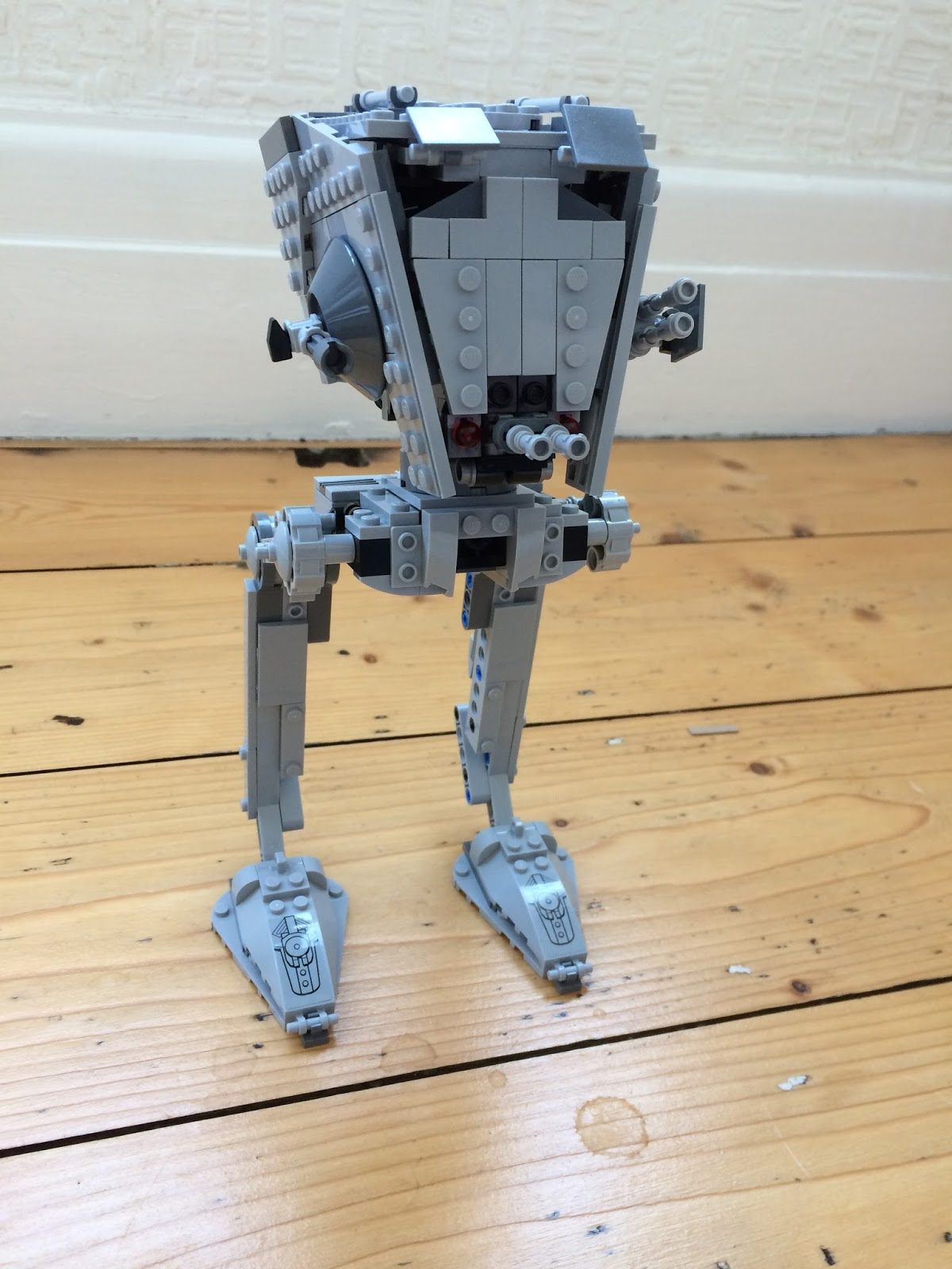 The Lego 75153 Star Wars AT-ST Walker assembled