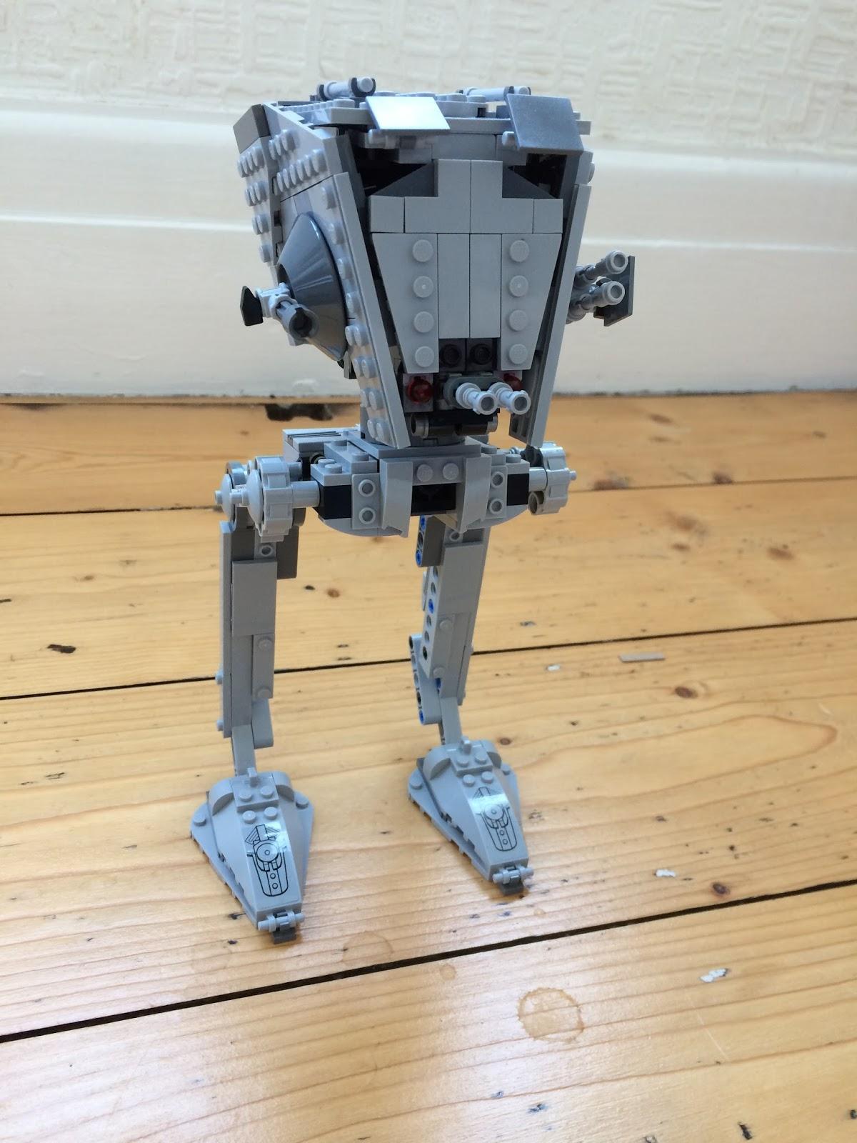 The Lego Star Wars R1 AT-ST Walker 75153 assembled