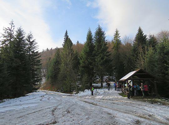 Przełęcz pod Małym Krzystonowem.