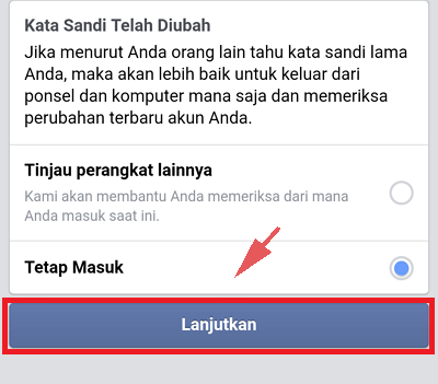 Cara Ganti Password Facebook Via Android