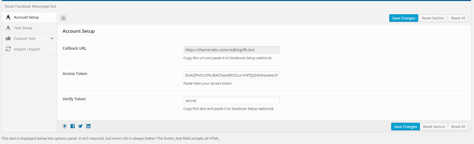 facebook messenger chat bot account set up