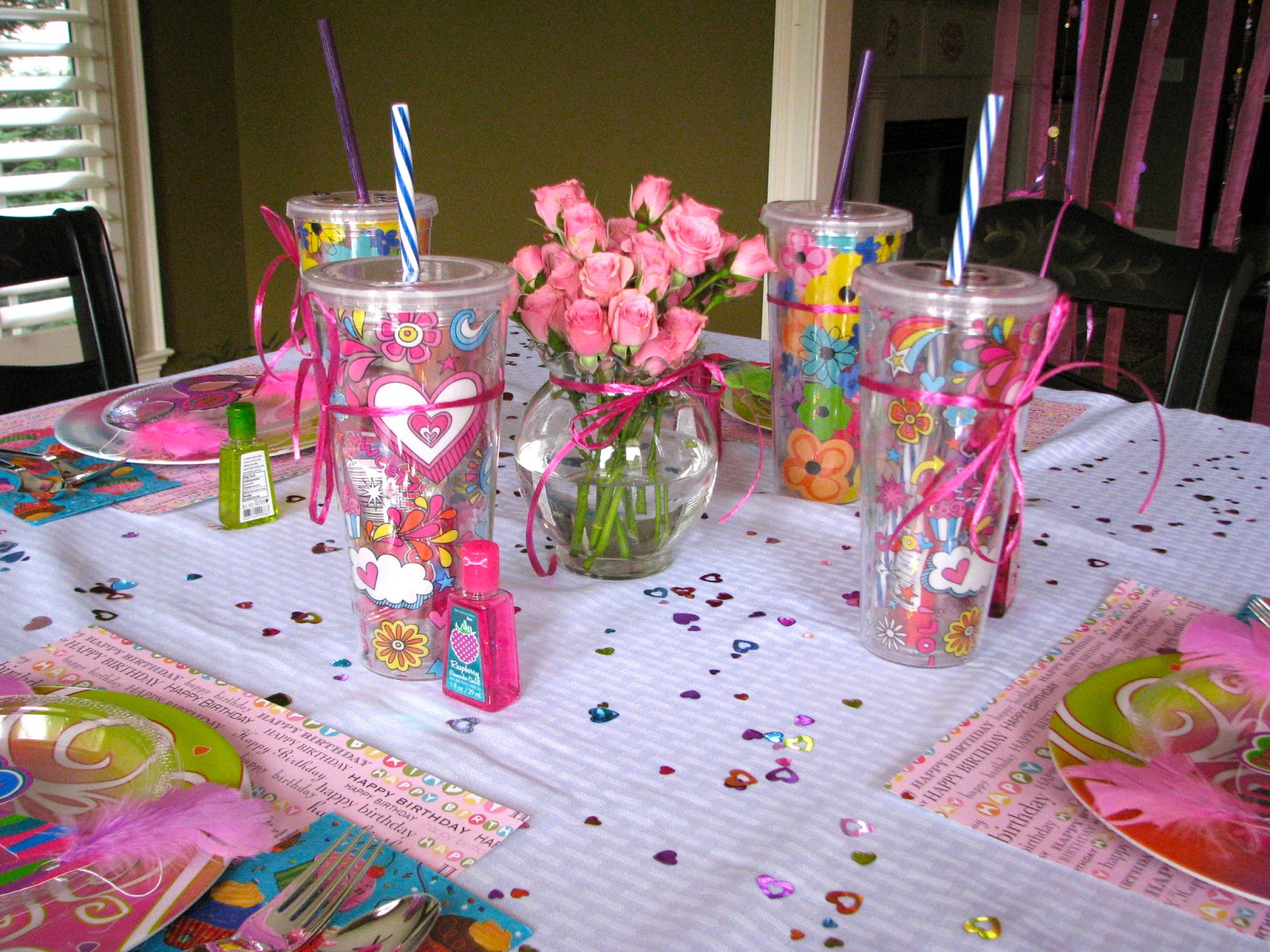 Homemadeville your place for homemade inspiration girl 39 s for Baby girl birthday party decoration ideas