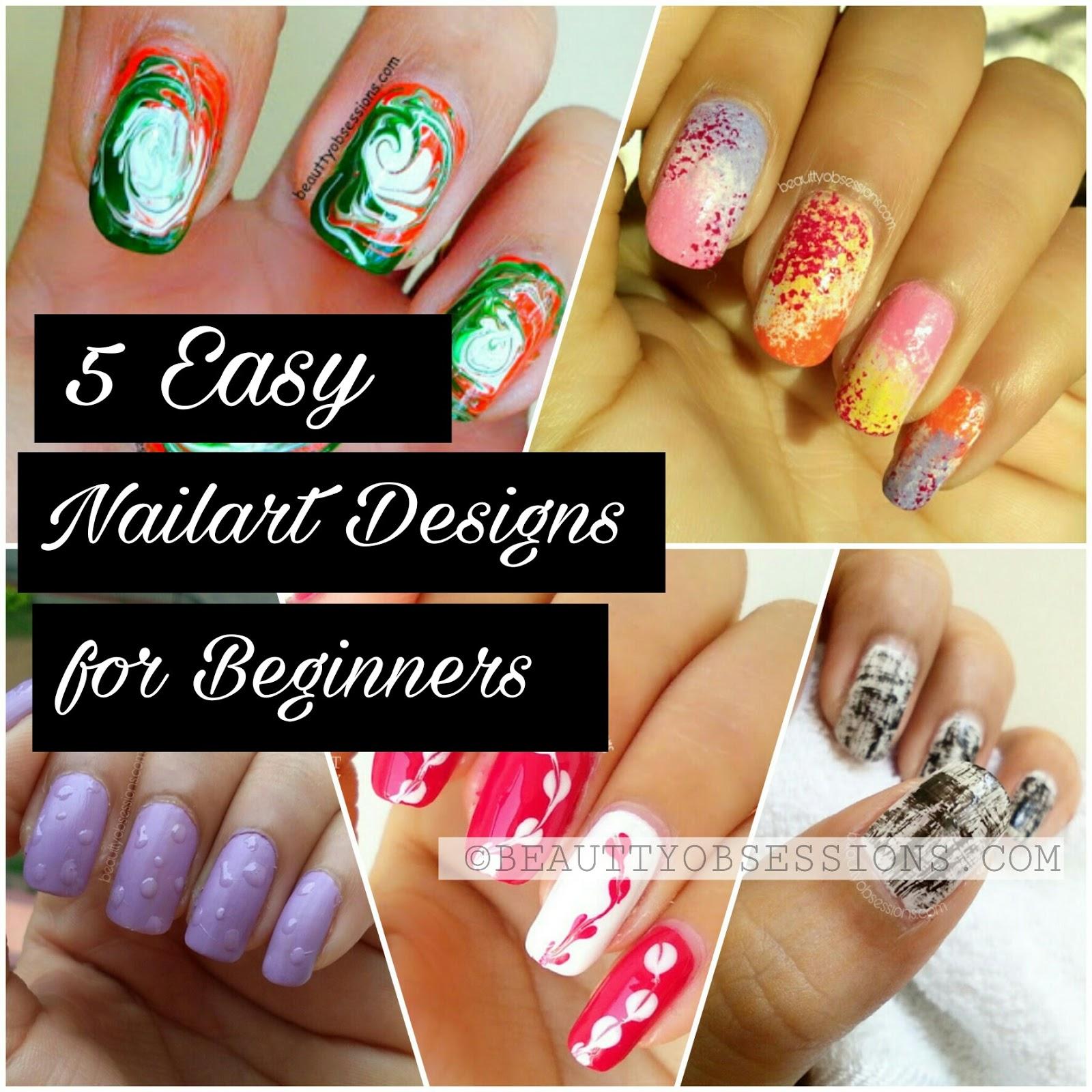 5 easiest nailart designs for beginners
