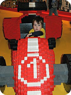 Small Boy LEGO Racing Car LEGOLAND Discovery Centre Manchester