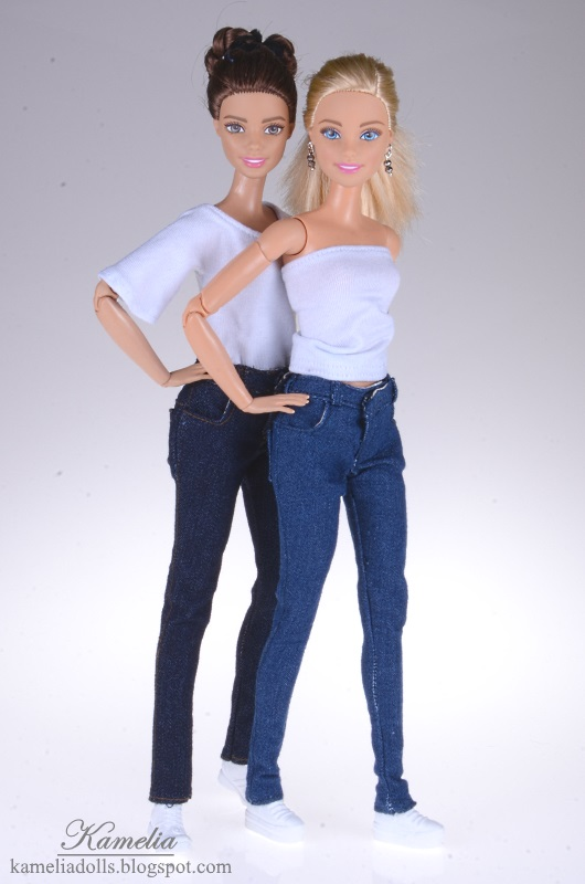 Casual clothes for Barbie dolls.