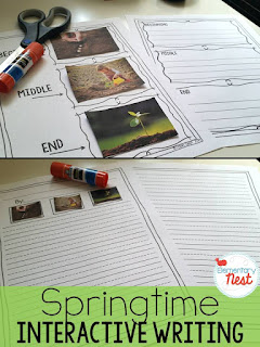 Spring Writing- The interactive writing pack is a hands-on activity that allows students to really own their writing. They get to sort the story into the order they like, then prewrite and write a story on the topic.