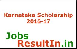 Karnataka Scholarship 2016-17