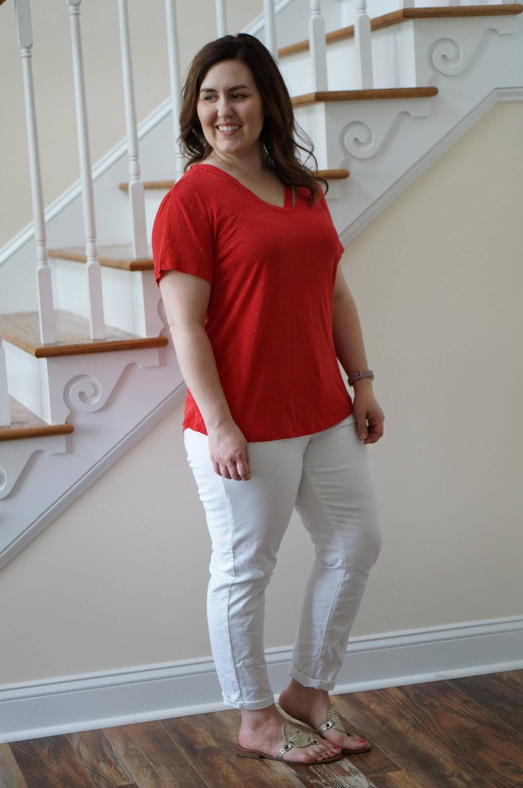 Popular North Carolina style blogger Rebecca Lately shares her July 2018 Stitch Fix outfits.  Click here to see what she kept and what sent back!