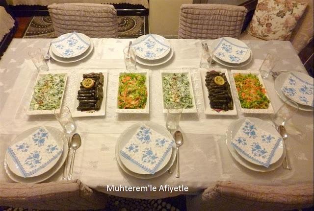 akşam yemeği menü önerisi