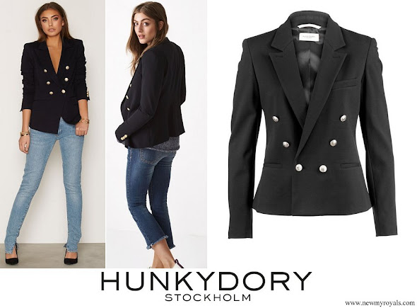 Crown Princess Victoria wore Hunkydory Midnight Navy Blazer