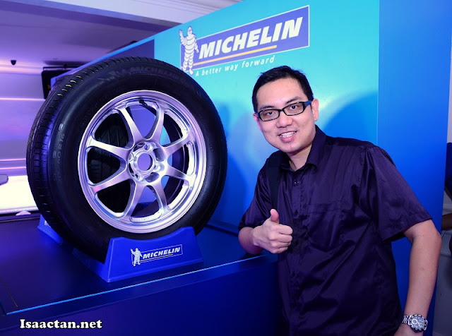 "Yours truly giving the thumbs up to this new ""comfort"" tyre"