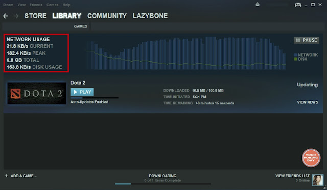 Update Dota 2 Koneksi Lemot