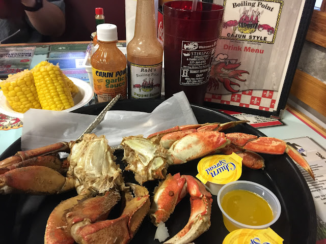 Crab at R & M's Boiling Point in New Iberia, Louisiana