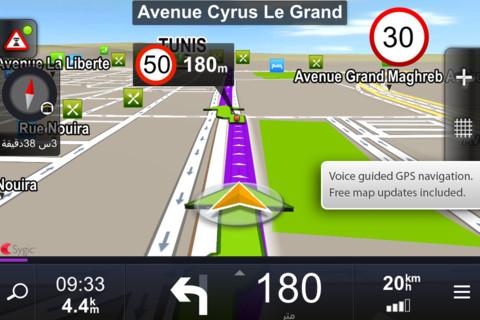 sygic tunisie et algrie gps navigation gratuit