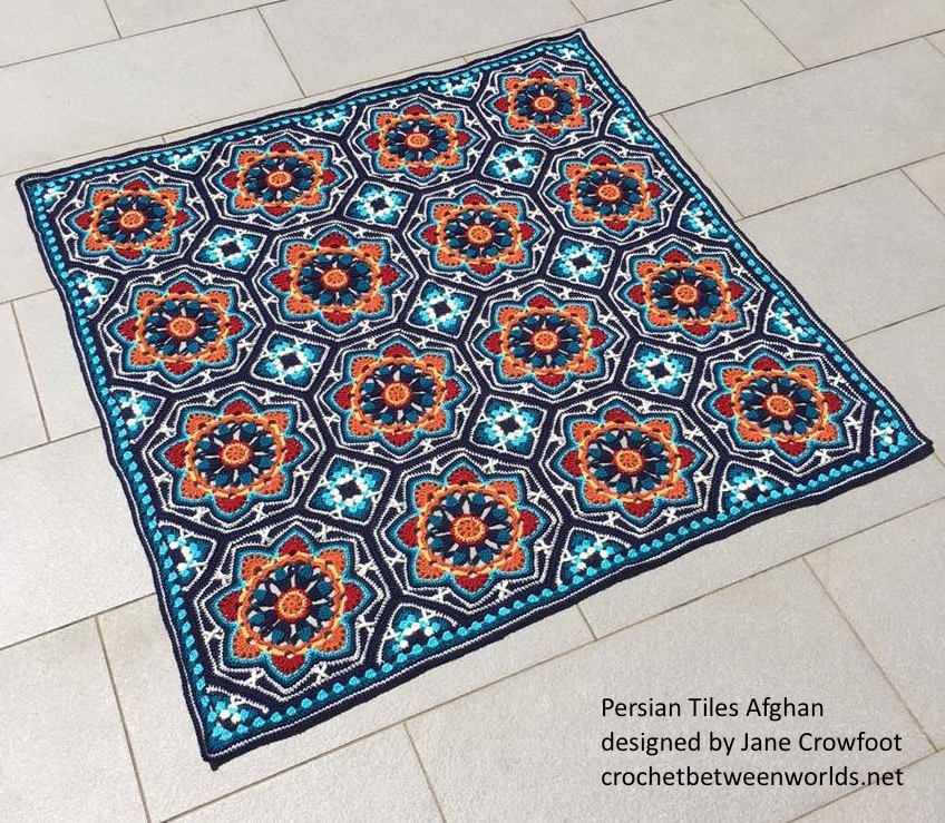 Persian Patterns: Crochet Between Worlds: Ta-dah! Persian Tiles Afghan