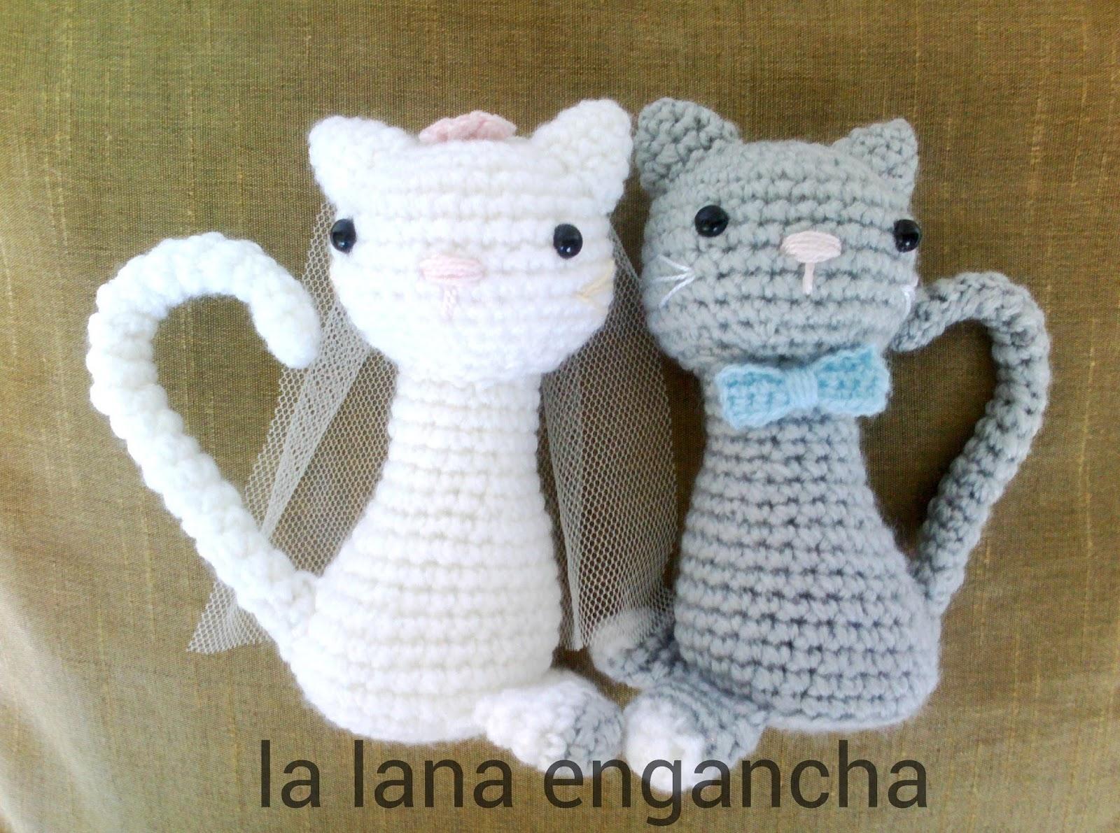 La lana engancha: GATITOS NOVIOS