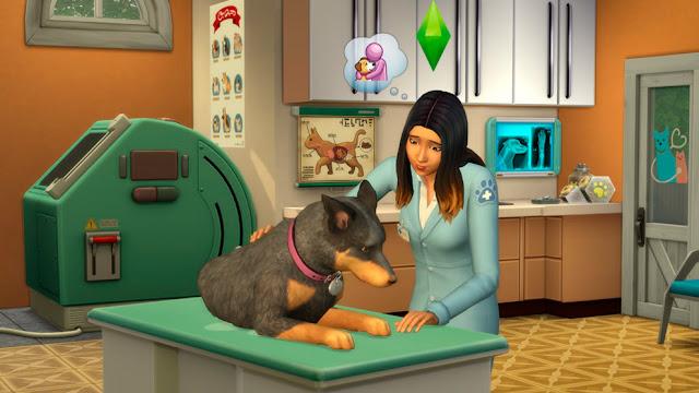 """Oficio de veterinario del juego Los Sims 4 """"Perros y Gatos"""""""