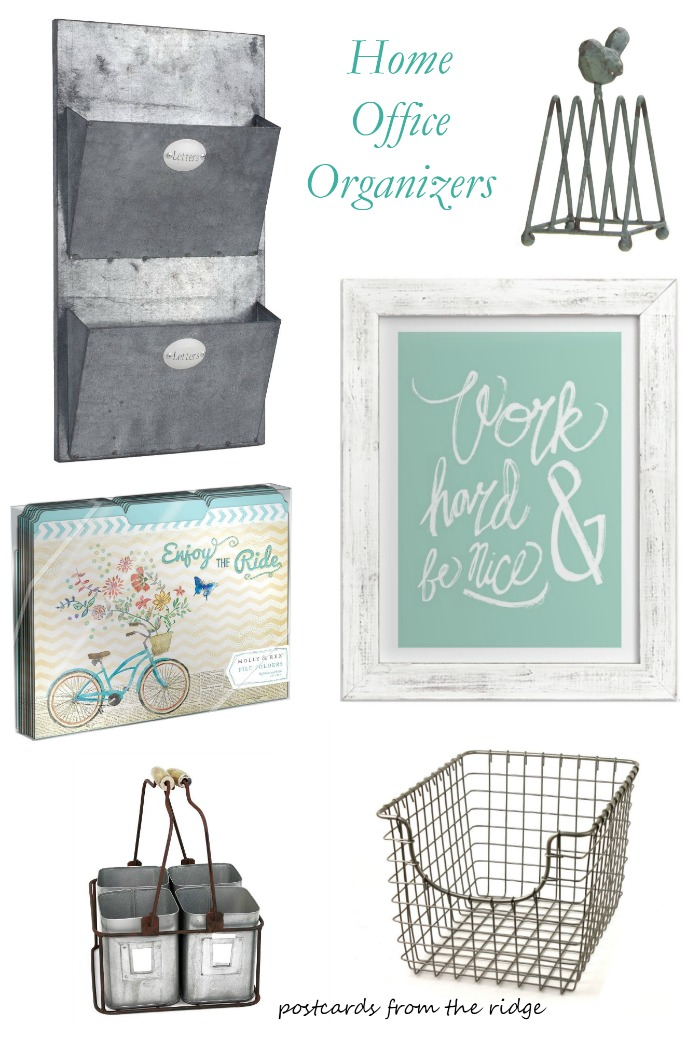 Stylish and affordable home office storage and organization ideas.