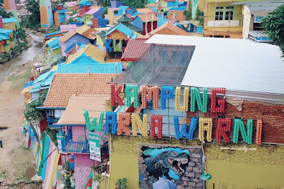 Wisata Kampung Warna Warni Jodipan Malang - Jawa Timur + Tiket Masuk
