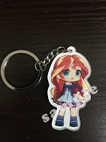 MLP Fake Equestria Girls Keychain Sunset Shimmer
